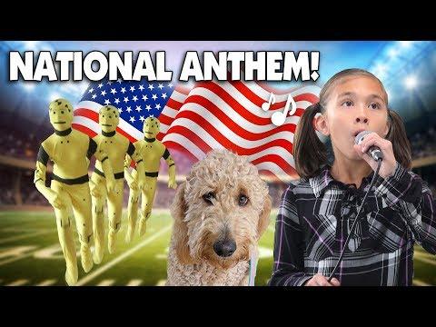 JILLIAN SINGS THE NATIONAL ANTHEM!!! Morning Routine, Crash Test Dummy &  Chloe Haircut
