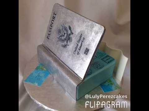 Passport cake