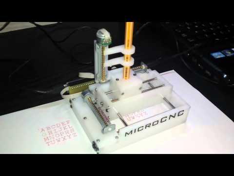 Micro Mini CNC Plotter - GRBL & Arduino controlled