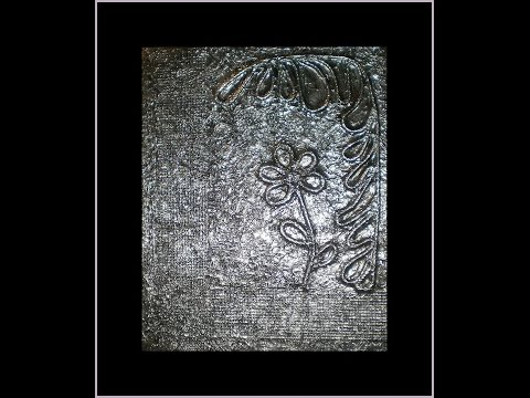 aluminum foil art (tutorial)
