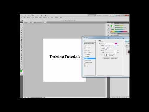 Adobe Photoshop CS5 Tutorial - Editing Text (Text Effects)