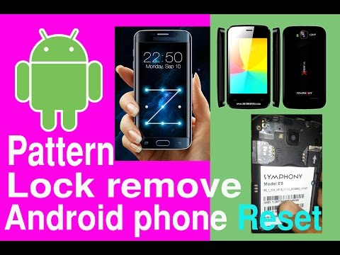 how to reset android Symphony E5 remove pattern lock