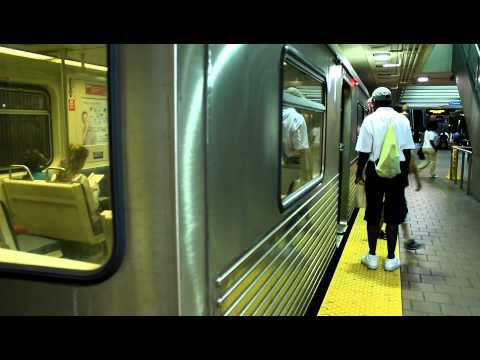 MTA Maryland: Metro Subway Train (Budd UTV) at Charles Center