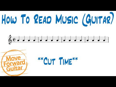 How to Read Music (Guitar) - Cut Time