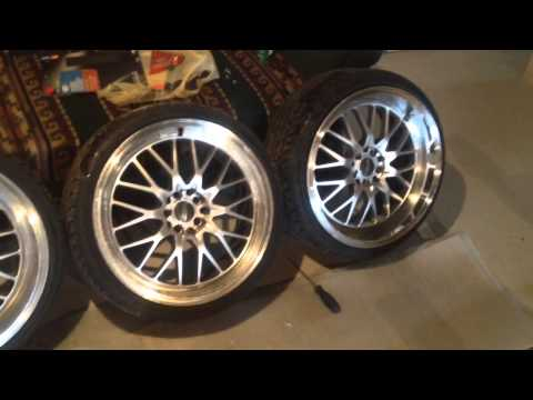 Before and after taking clear coat off rims for my vw golf