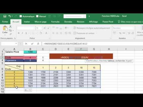 La fonction INDEX dans Excel (3 utilisations différentes)