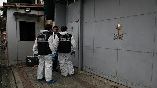 #x202b;محققون جنائيون أتراك يغادرون مبنى القنصلية السعودية في اسطنبول…#x202c;lrm;