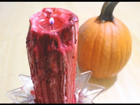 DIY Halloween Drip Candle