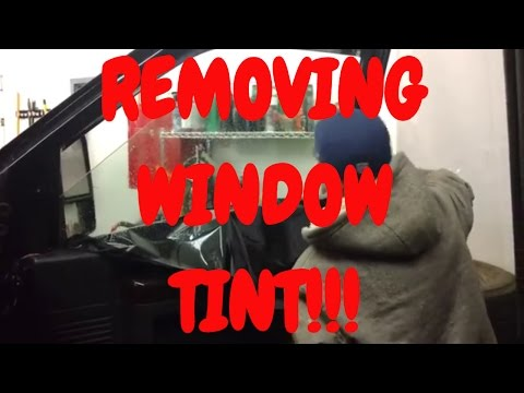 How to remove tint from car windows | Window tint removal
