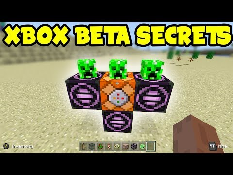 Minecraft 1.2 Xbox BETA SECRETS !!! - Better Together Update (Xbox Command Blocks)