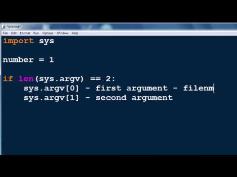 Command Line Arguments in Python programming language (sys module, sys.argv[] string list)