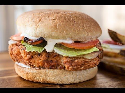 Easy To Make Crispy Chicken Burger At Home[HINDI]