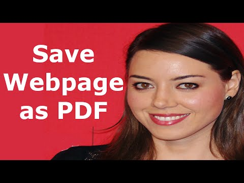How to save webpages as pdf, saving a webpage - Saving a website