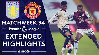 Aston Villa v. Manchester United | PREMIER LEAGUE HIGHLIGHTS | 7/9/2020 | NBC Sports