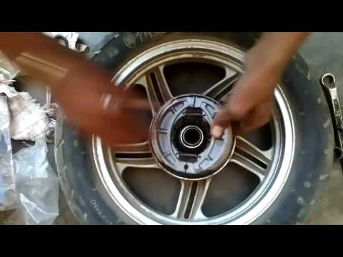 How to install liner or  brakeshoe in two wheeler