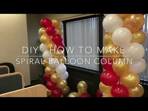 DIY | HOw To Do A SPIRAL BALLOON COLUMN | USING THREE DIFFERENT COLORS