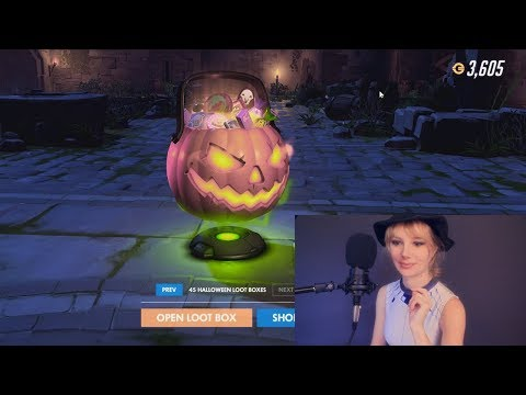 ASMR Whispered Opening Overwatch Halloween Loot Boxes :)