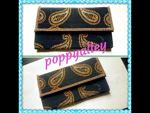 DIY wallet out of fabric(NO SEW) | clutch | card holder