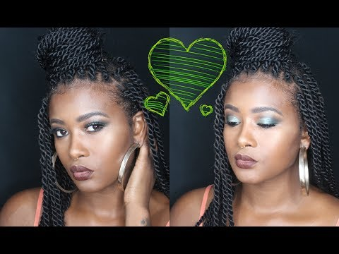 GRWM GREEN FALL MAKEUP | HOW DO YOU KNOW WHEN YOUR IN LOVE?