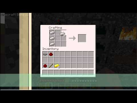 Minecraft - How to make Detector and Powered Rails (HD)