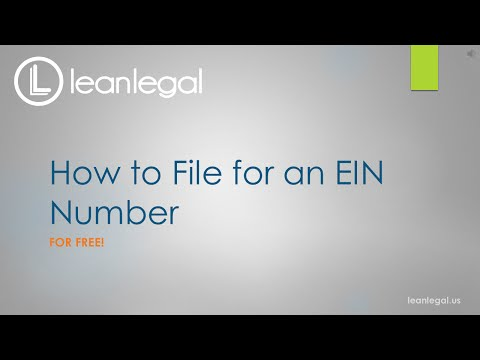 How to File for an EIN Number for FREE