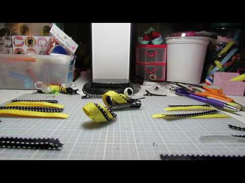 Scrap Maniac's: How to Make a Bumble Bee Ribbon Sculpture Hair Clip