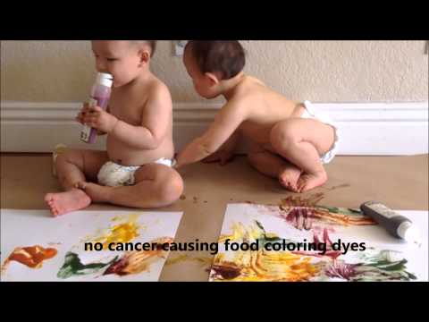 Organic Baby Products- Safe, Edible Baby Finger Paint