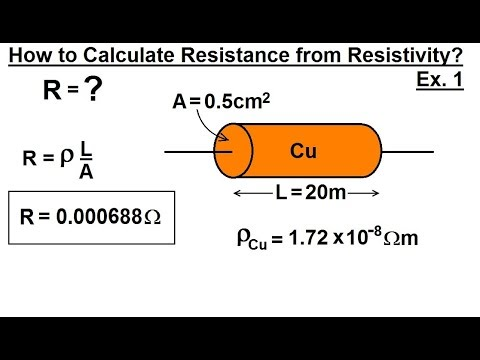 Physics - E&M: Ch 40.1 Current & Resistance Understood (12 of 17) Calculate R from Resistivity