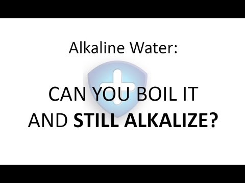 Alkaline Water: Can you boil it and still get alkalized?
