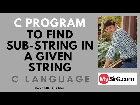 C Program to find substring in a string