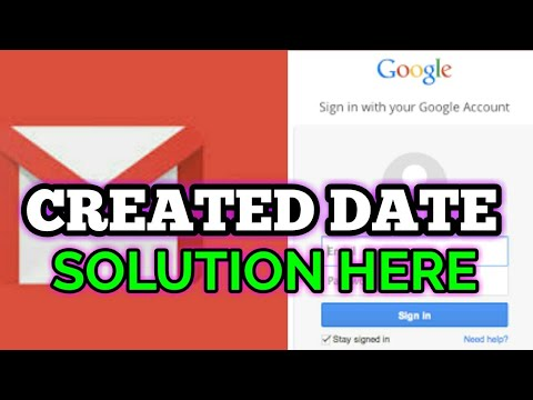 HOW TO FIND GMAIL CREATION DATE