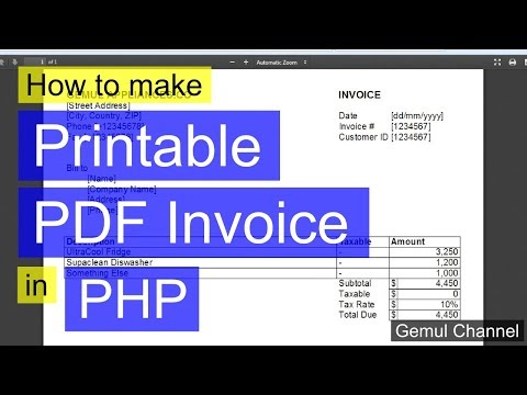 How to make printable PDF Invoices in PHP | PHP FPDF Tutorial #1 [Repost, improved audio]