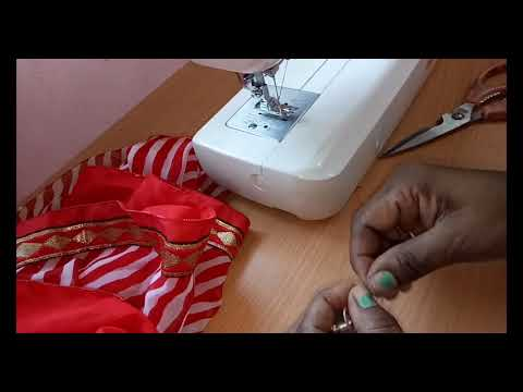 How To Stitch Saree Fall at home full tutorial in hindi - साड़ी में फॉल कैसे लगाएं