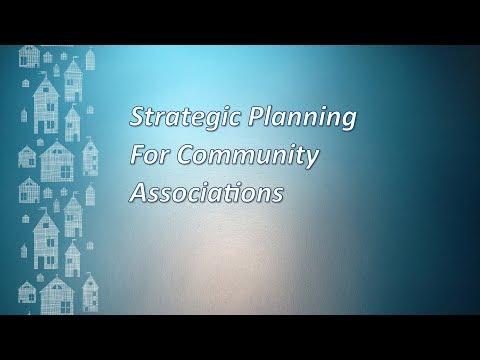 Community Associations Video FAQ: Strategic Planning for Community Associations