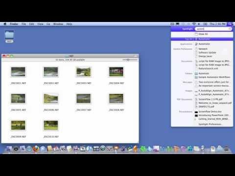OSX Automator: NEF to JPEG Screencast
