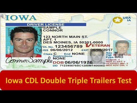 Iowa CDL Double Triple Trailers Test