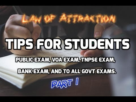 Law of  Attraction tips for students | Part 1 | Tamil