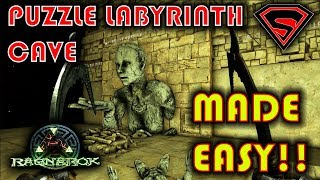 ARK RAGNAROK PUZZLE LABYRINTH CAVE - LABYRINTH PUZZLE CAVE PASSWORD &  EASIEST WAY TO DO IT - getplaypk