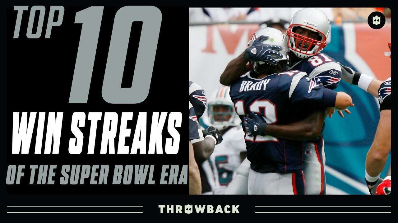 Top 10 Longest Win Streaks in NFL History!