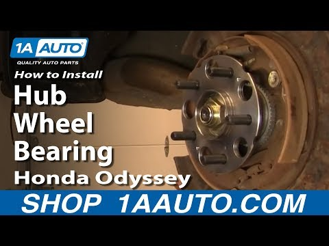 How To Install Replace Rear Hub Wheel Bearing Honda Odyssey 99-04 1AAuto.com