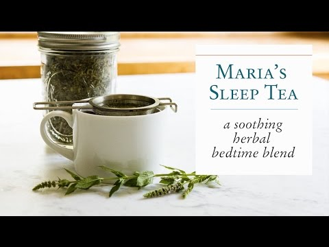 Maria's Herbal Sleep Tea from Body into Balance