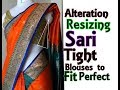 Alteration /Resizing  Tight BLOUSE  to Fit Perfectly in Professional Style| Convert OLD 2 NEW -  3