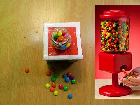 How to make candy  dispenser machine - Easy Tutorials
