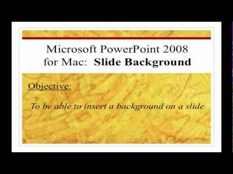 Microsoft PowerPoint 2008 for Mac: Insert Background