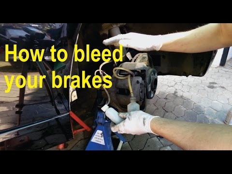 How to bleed / flush brake fluid on BMW (E65) - Detailed