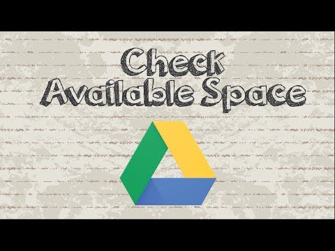 How to check my Google Drive space