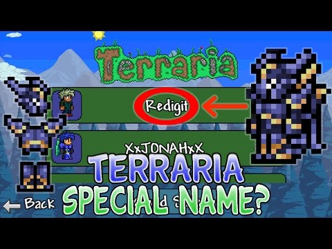 What Happens If You Name Yourself Redigit In Terraria? (1.2.4 Ios/Android 2016)
