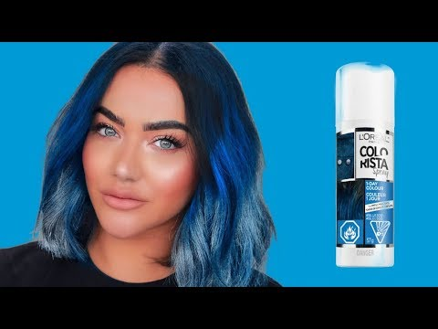 HOW TO ACHIEVE BLUE HAIR with L'oréal COLORISTA