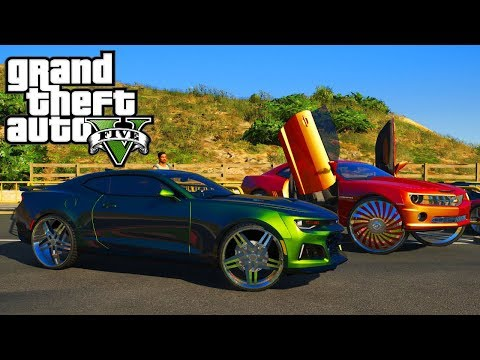 Car Show & Camaro ZL1 gets Rims!! GTA 5 Real Hood Life 2 #179