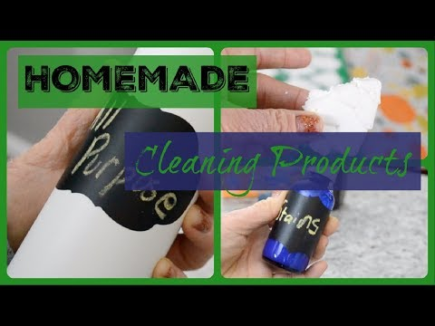 5  EASY DIY Cleaners - All purpose, toilet bombs, toilet cleaner, stain remover, disinfectant